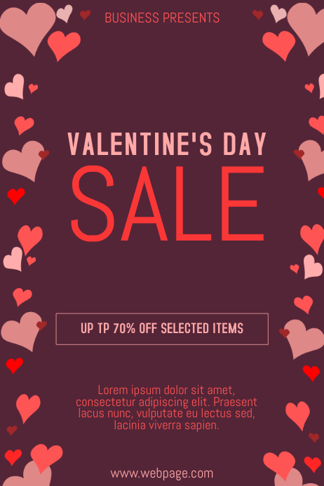 Valentine´s Day Sale Flyer
