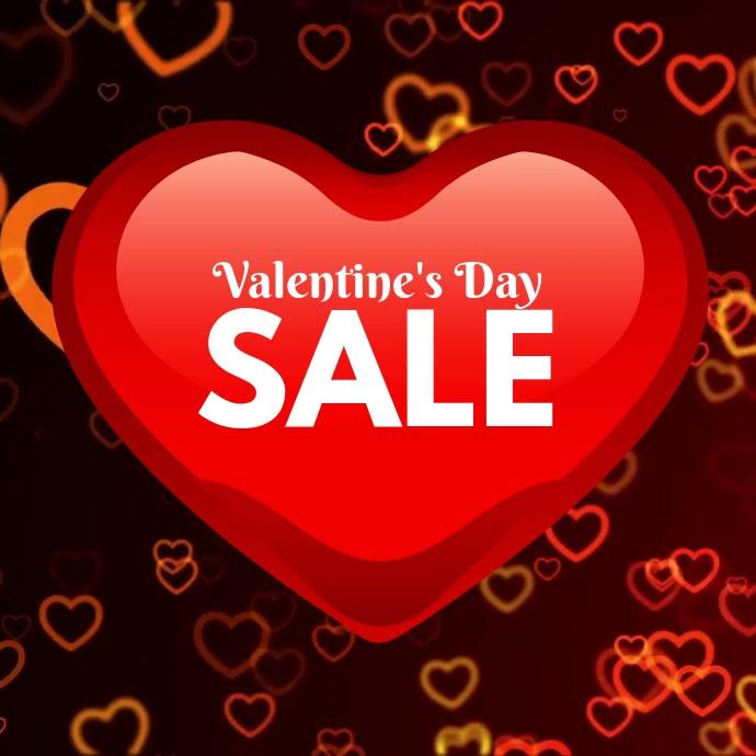 Valentine's Day Sale Vierkant (1:1) template