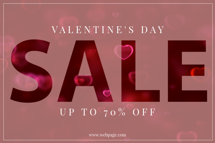 Valentine's Day Sale Retail Promotion Template