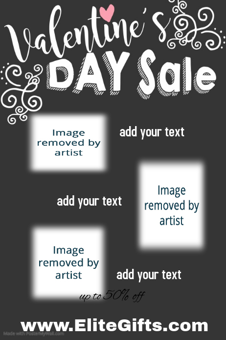 Valentine's Day Sale Retail Small Business poster template