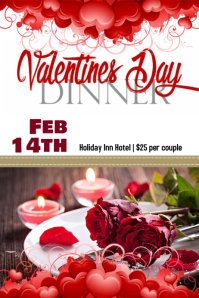 Valentine's Dinner Poster template