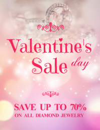 Valentine's Jewelry Sale Flyer Template