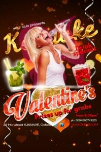 Valentine's Karaoke Instagram Post Poster template