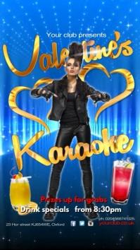 Valentine's Karaoke Night Pantalla Digital (9:16) template