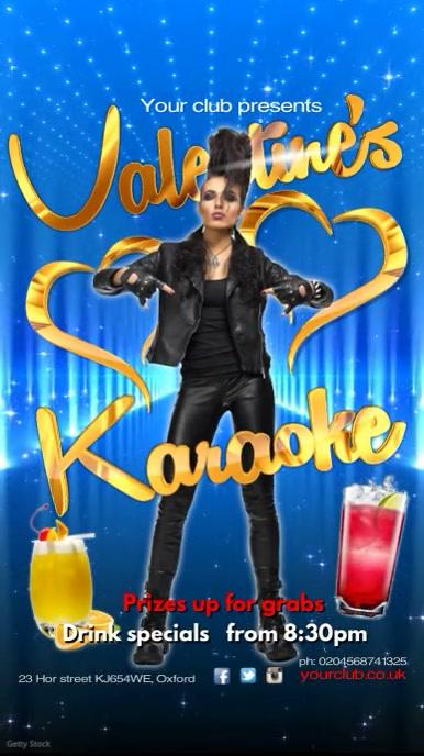 Valentine's Karaoke Night Template   PosterMyWall   270 x 480 jpeg 52kB