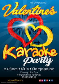 valentine's Karaoke Party Flyer