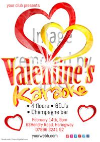Valentine's Karaoke Flyer