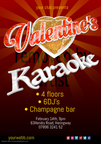 Valentine's Karaoke Poster