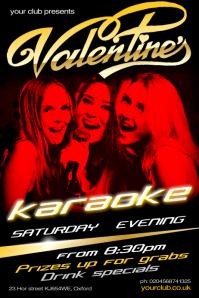 Valentine's Karaoke show poster template