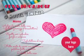 Valentine's menu heart
