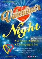 Valentine's night poster