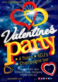 Valentine's Party Poster