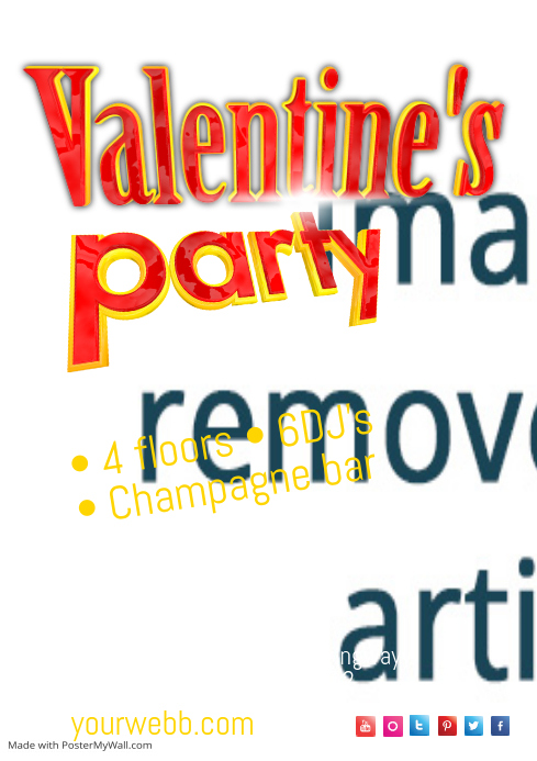 valentine u0026 39 s party poster template