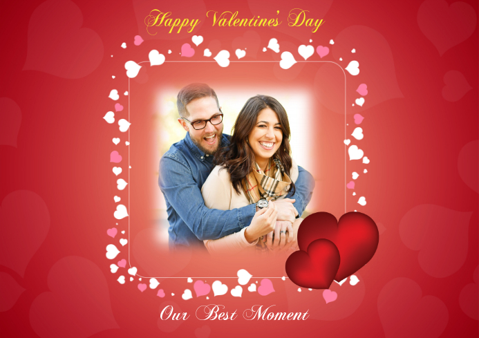Valentine's Picture Frame A4 template
