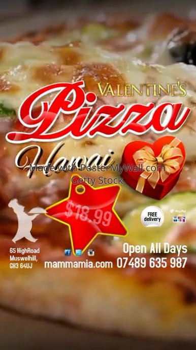 Valentine's Pizza Instagram