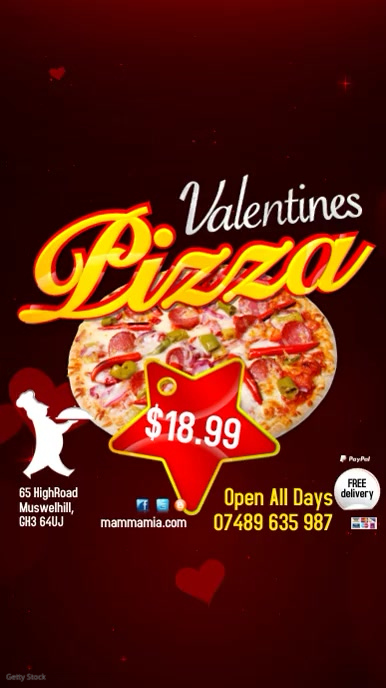 Valentine's Pizza Special