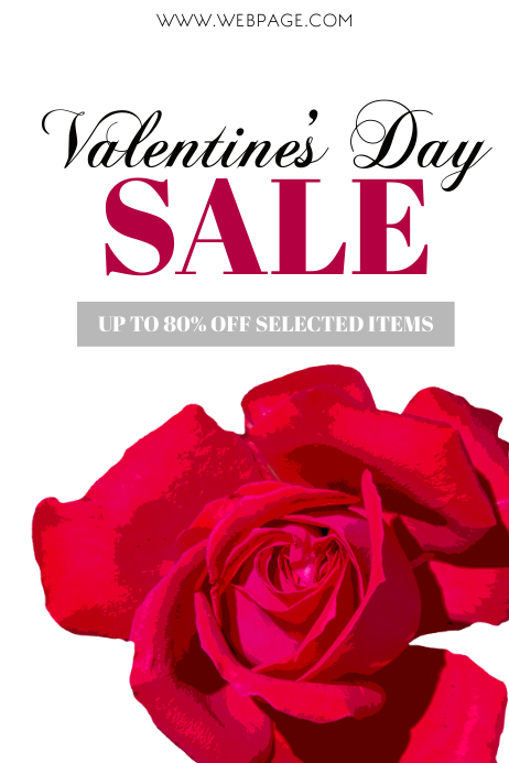 Valentine's Retail Flyer Template