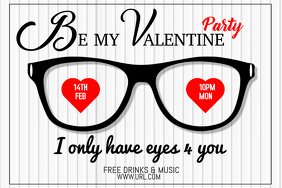 Valentine's retail poster templates,Event flyers