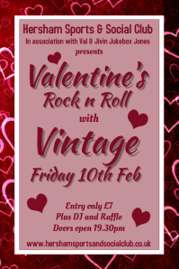 Valentine's Rock n Roll Poster