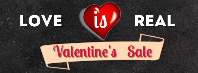 Valentine sale Facebook-coverfoto template