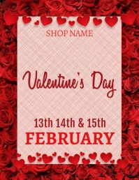Valentine Sale Flyer Volante (Carta US) template