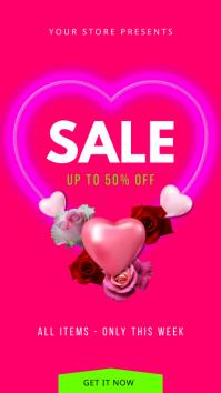 Valentine Sale Instagram Story template