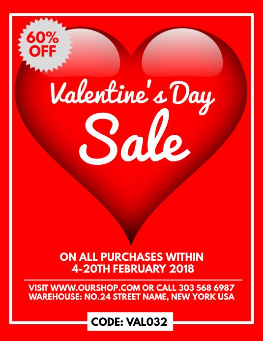 Valentine Sale Flyer Template