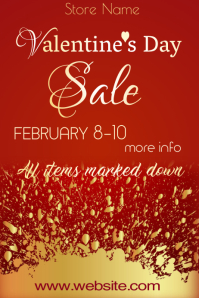 Valentine Sale Poster Template