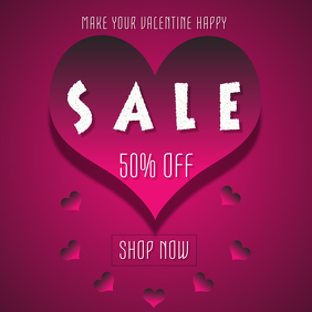 VALENTINE SALE TEMPLATE instagram post
