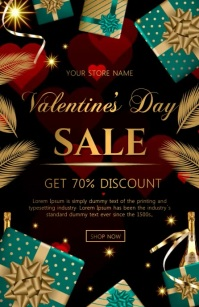 valentine sale video Tabloide template