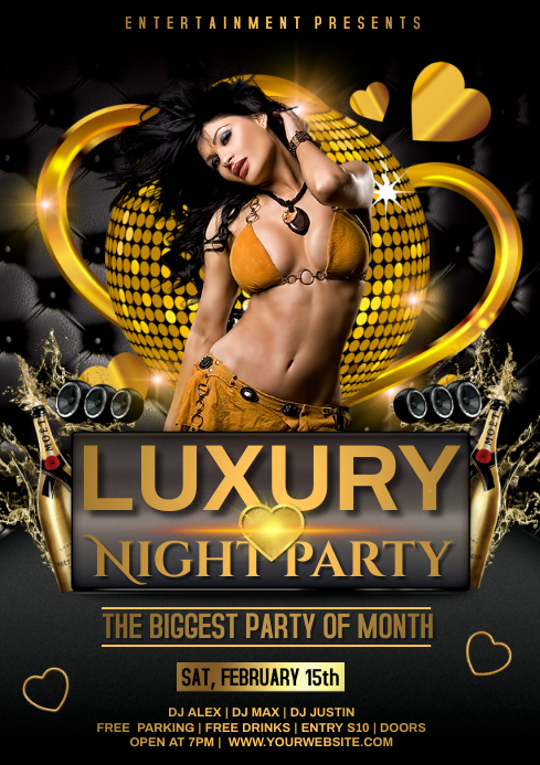 PARTY NIGHT A4 template