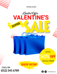 Valentine Super Sale Flyer Template