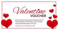 valentine voucher gift card template design Gedeelde afbeelding op Facebook