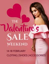 Valentine Weekend Sale Flyer Template