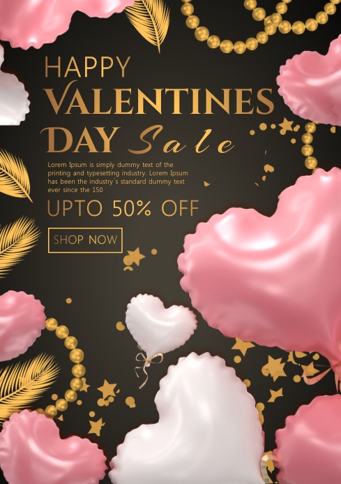 Valentines's Day Sale A4 template