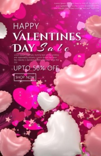 Valentines's Day Sale Video Tabloid template