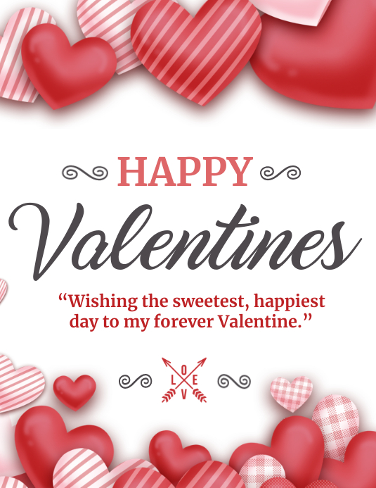 Valentines, Valentines cards ใบปลิว (US Letter) template