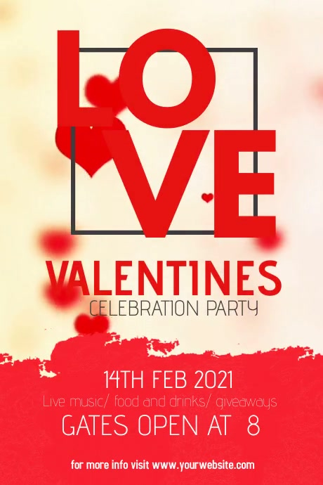 valentines, Valentines party Poster template