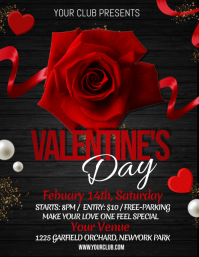 Valentines, valentines party flyer Ulotka (US Letter) template