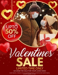 Valentines, Valentines retail ใบปลิว (US Letter) template