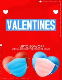 Valentines, valentines sale Flyer (US Letter) template