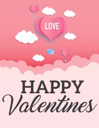 Valentines,Valentines day Pamflet (Letter AS) template