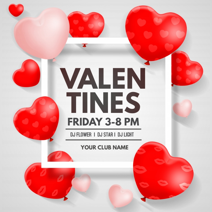 Valentines , Love, Romantic Persegi (1:1) template
