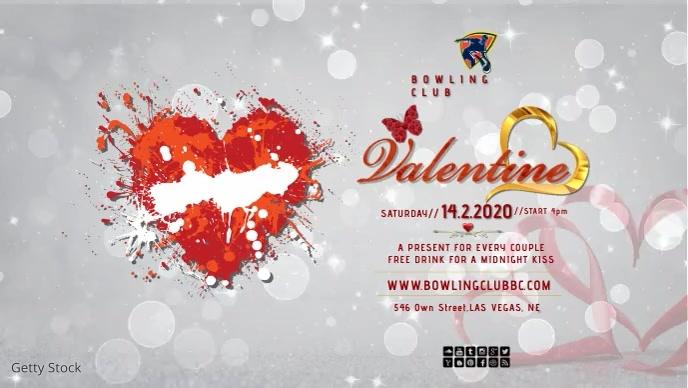 valentines 2020 flyers facebook video Facebook-omslagvideo (16: 9) template