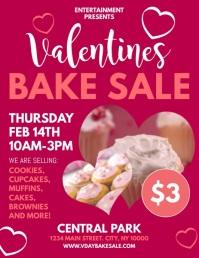 Valentines Bake Sale Flyer (US Letter) template