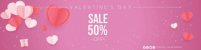 valentines banner template