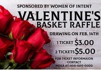Valentines Basket Raffle Открытка template