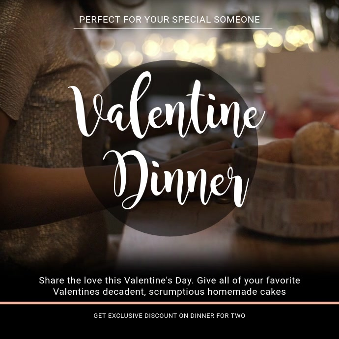 Valentines Cafe Promo Video Template