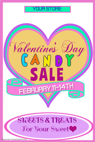 Valentines Candy Sale Poster Template