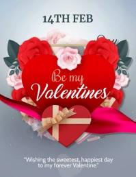 valentines cardsa,romantic 传单(美国信函) template